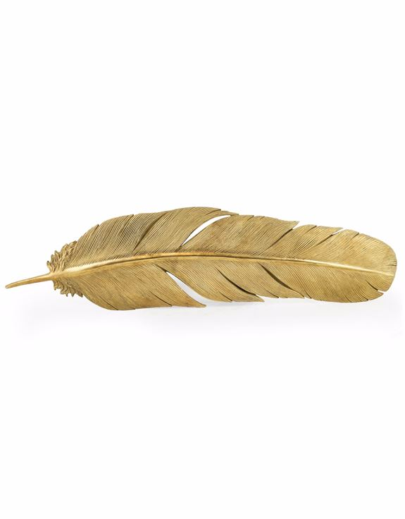 Large Gold Feather Wall Decor Hodsons