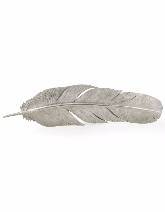 Large Silver Feather Wall Decor Hodsons